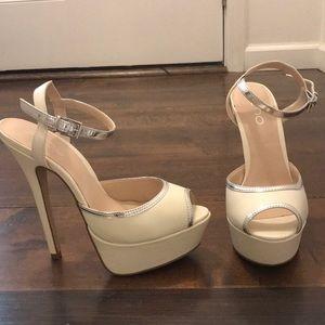 ALDO Gelille Heels Off-White - Size:37 (7 US) NWOT